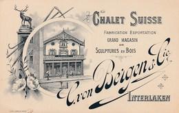 Interlaken - Chalet Suisse C. Von Bergen & Cie - Fabrication Exportation - Sculptures En Bois - BE Berne