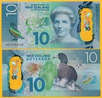 New Zealand 10 Dollars P-192 2015 UNC Polymer Banknote - New Zealand