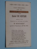 H. Communie (?) Van Emiel De KEYSER > Kostschool Zusters V. Liefde Te BOUCHOUT Op 22 Mei 1941 ( Details Zie Foto's ) ! - Communion