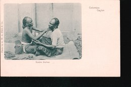 CPA442.....COLOMBO ...NATIVE BARBER - Sri Lanka (Ceylon)