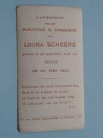 H. Communie Van Louisa SCHEERS > Kerk Van PEULIS Op 30 Mei 1943 ( Details Zie Foto's ) ! - Communion