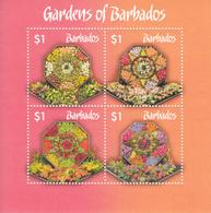 2014 Barbados Gardens Flowers Souvenir Sheet MNH - Barbados (1966-...)