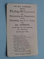 H. Communie Van Jan ANDRIES > Kerk Van Sint Amandus Te HEFFEN Op 29 April 1951 ( Details Zie Foto's ) ! - Communion