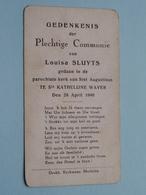 H. Communie Van Louisa SLUYTS > Kerk Van Sint Augustinus Te Ste KATHELIJNE WAVER Op 28 April 1940 ( Zie Foto's ) ! - Communion