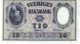 Sweden P,43 10 Kronor 1956 Au+++ - Svezia