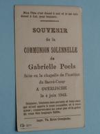 Communion Solennelle De Gabrielle POELS > Institut Du Sacré Coeur OVERIJSCHE Le 4 Juin 1942 ( Zie Foto's ) ! - Communion