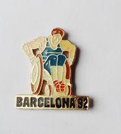 Pin's JO Barcelona 92 Barcelone HANDISPORT - EB - Athlétisme