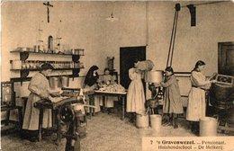 3 Postkaarten Melkerijen S'Gravenwezel  Pensionaat Heverlee Instituut - Artisanat