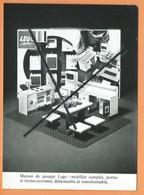 Photo -Maison De Poupée Lego ,Mobilier Complet,portes Et Tiroirs Ouvrants,démontable Et Transformable (Jouet,Jouets ) - Cartes Postales