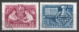 Hungary 1950. Scott #889-90 (U) World Chess Championship, Matches, Budapest ** Complet Set - Oblitérés
