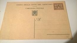 VATICANO CARTOLINA POSTALE CENT. 50  NUOVA - Interi Postali