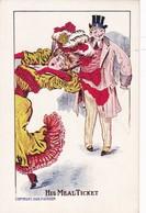 HIS MEAL TICKET. 1908 P.GORDON. HUMOR. CPA - BLEUP - Humor