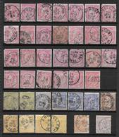 46-52 - Volledige Reeks - Afgestempeld - 1884-1891 Leopold II.