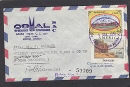 LETTRE RECO. DE 1991 POUR LES ETBS. PELIKAN (ENCRES) - Paraguay