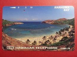 HAWAI GTE - 10u Hanauma Bay Plage White Letters Used (CB0718 - Hawaii