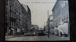 CPA LIMOGES 87 BOULEVARD LOUIS BLANC TRAMWAY HORLOGERIE E D O 1938 - Limoges