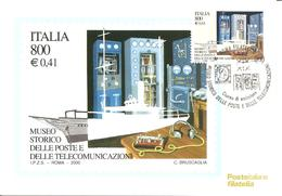 ITALIA - 2000 ROMA Museo Telecomunicazioni Cabina Radiotelegrafica Nave Elettra Di G. MARCONI Ann. Fdc Su Cartolina PT - Fisica