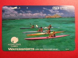HAWAI GTE - 3u Watersports Aloha State Games 1993 Canoe Pirogue MINT NEUVE (CB0718 - Hawaii