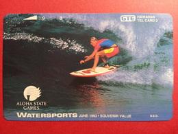 HAWAI GTE - 3u Watersports Aloha State Games 1993 Surf MINT NEUVE (CB0718 - Hawaï