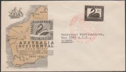 AUSTRALIA - 1954 Philatelic Exhibition Western Australia First Day Cover. Producer Alfil Barcelona. Swans, Map - Primo Giorno D'emissione (FDC)