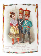 CHROMO SATIN  CHOCOLAT POULAIN ...CARMEN ACTE I - Poulain