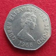 Jersey 50 Pence 1986 KM# 58.1  *V2 - Jersey