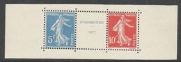 1927 - N° 242A ** (MNH) - Paire 5F Et 10F Avec Intervalle - Parfait - France