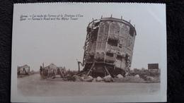 CPA YPRES LA ROUTE DE FURNES ET LE CHATEAU D EAU RUINES APRES GUERRE 14 - Guerre 1914-18