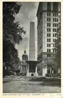 GREEN MONUMENT AND CITY  SAVANNAH - Savannah