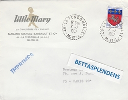 LSC 1967 - Entête  LITTLE MARY - La Chaussure De L'Enfant à La Tessoualle - Cachet Perlé  LA TESSOUALLE (Maine Et Loire) - 1961-....