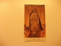 SANTINO HOLY PICTURE IMAGE SAINTE IMAGE N. S. DELLA ROSA SANTA MARGHERITA LIGURE PIEGHINE - Religione & Esoterismo
