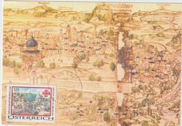 Carte-Maximum AUTRICHE (JERUSALEM) Obl Sp 15.11.04 - Maximumkarten (MC)