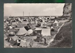 CP (76) Dieppe  _Terrain De Camping Au Bas De La Falaise Du Pallet - Dieppe