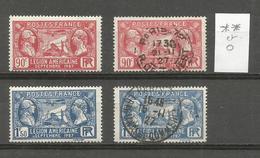 1927 - N° 244 Et 245 ** (MNH) Et Oblitérés (o) - France