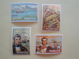 1972 Maurice Yv 385/8 ** MNH Bateaux Ships Cote 12.50 € Michel 387/90 Scott 395/8  SG 459/2 Pirates Corsaires - Maurice (1968-...)