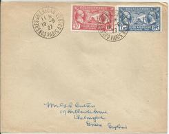 1927 - N° 244 Et 245 Oblitérés (o) Sur Lettre - Obl.: CONGRES AMERICAN LEGION - RR - France