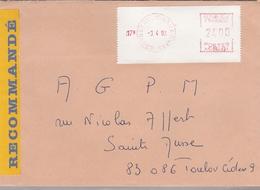 LSC Recommandé 1992 - Cachet  DRAGUIGNAN ARMEES - Postmark Collection (Covers)