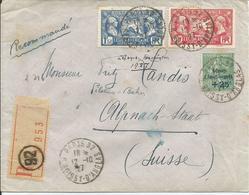 1927 - N° 244 Et 245 + 247 Oblitérés (o) Sur Lettre RECOMMANDEE - PARIS/SUISSE - Lettres & Documents