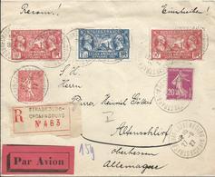 1927 - SUPERBE Enveloppe RECOMMANDEE 27/09/27 - STRASBOURG Vers ALLEMAGNE - France
