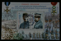 France 2019 Emission Conjointe France-Pologne Oblitéré - France