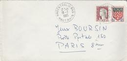 LSC 1965 - Cachet  Perlé  HAGENTHAL Le BAS  (Haut Rhin) - Postmark Collection (Covers)