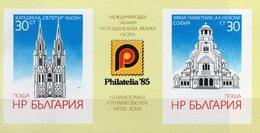 EXPO Philatelia 1985 Bulgarien Block 159 ** 2€ Kölner Dom Bloque Hojita Ss Blocs Architectur Sheets Bf Philatelics - Hojas Bloque