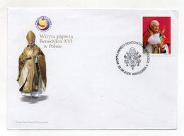 Polonia - 2006 - Busta FDC - Visita Di Papa Benedetto XVI° - Con Annullo Filatelico - (FDC14845) - FDC