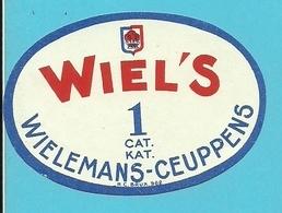 """Brasserie - Brouwerij :Bieretiket/  étiquette Ancienne Bière Belge """"WIELEMANS-CEUPPENS """" WIEL'S 1 Cat/kat. - Bière"""