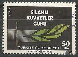 TURKEY 1984 - Mi. 2688 O, Dagger With A Blade In An Olive Tree Leaves | Military Forces | Olives | Armed Forces Day - 1921-... Republic