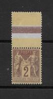 Sage N° 85c Type II Brun-rouge Sur Jaune ** TTBE - Bdf - Cote Y&T 2018 De 22,50 € (cote 15 + 50% **) - 1876-1898 Sage (Type II)