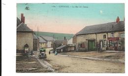 Ardennes GIVONNE La Rue Des Dames Colorisée Tacot  1932 . 2 Scans .......giv - France