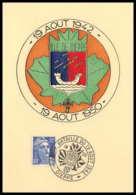 9738 N°812 Gandon Bataille Du 19 Aout Guerre 39/45 Dieppe 1950 France Carte Postale Postcard - Marcophilie (Lettres)