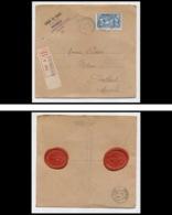 9788 Cachet De Cire Entete Banque De France Portbail Manche N°245 La Fayette Usa 1928 Lettre Recommande Cover - Marcophilie (Lettres)