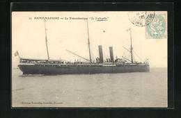 AK Saint-Nazaire, Passagierschiff Le Lafayette Beim Auslaufen - Passagiersschepen